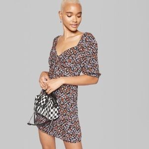 Wild fable floral puff sleeve dress